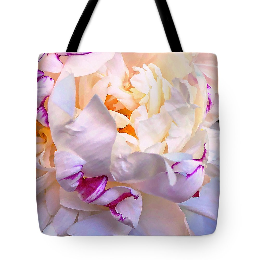 Peony Tote Bag featuring the digital art Peony Love 1 by Cindy Greenstein