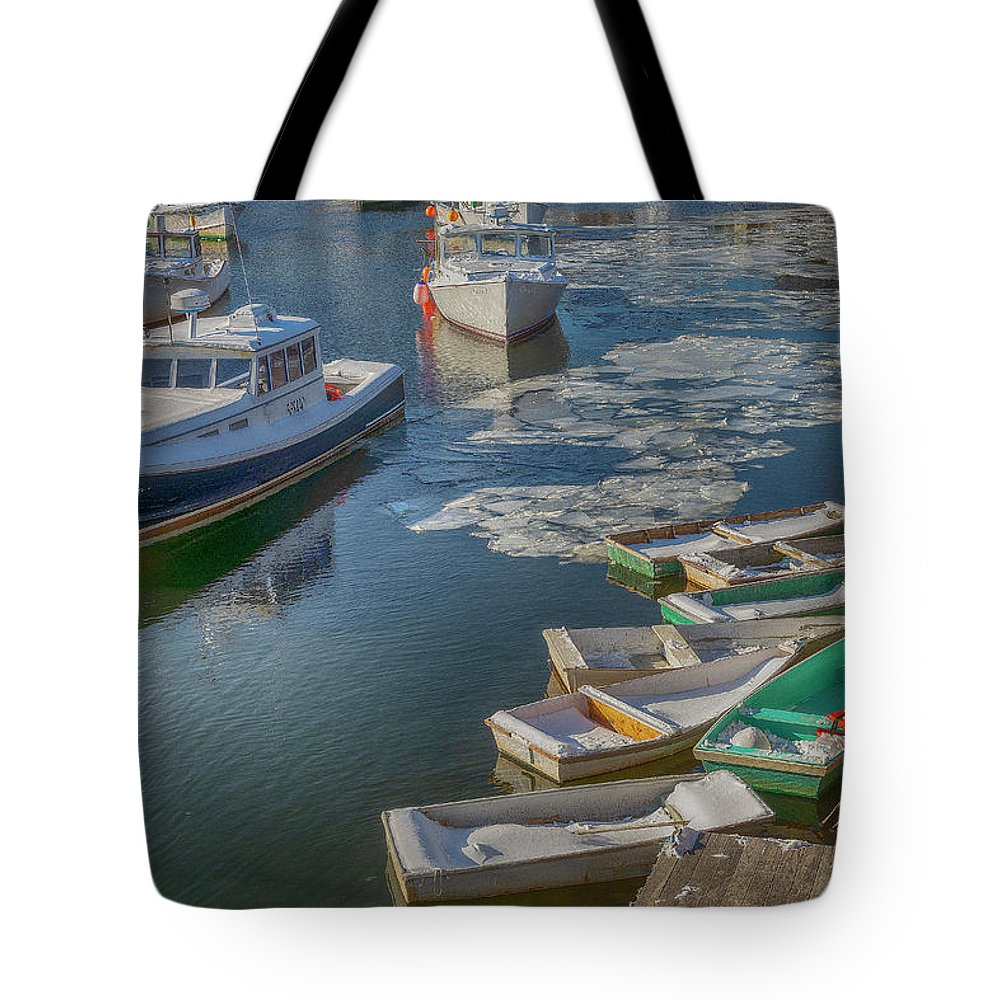 Perkins Cove Tote Bag featuring the photograph Perkins Cove by Bob Doucette