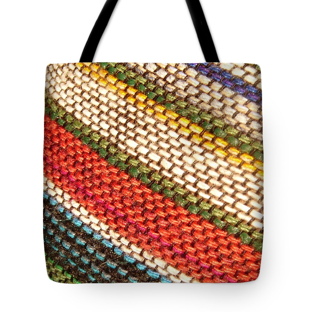 Art Tote Bag featuring the photograph Peruvian Fabric Art by Images By Luis Otavio Machado