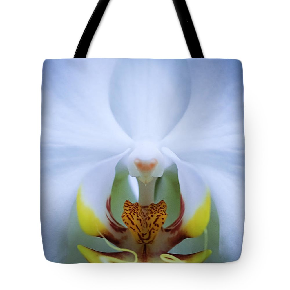 Outdoors Tote Bag featuring the photograph Phalaenopsis Orchid by By Ken Ilio