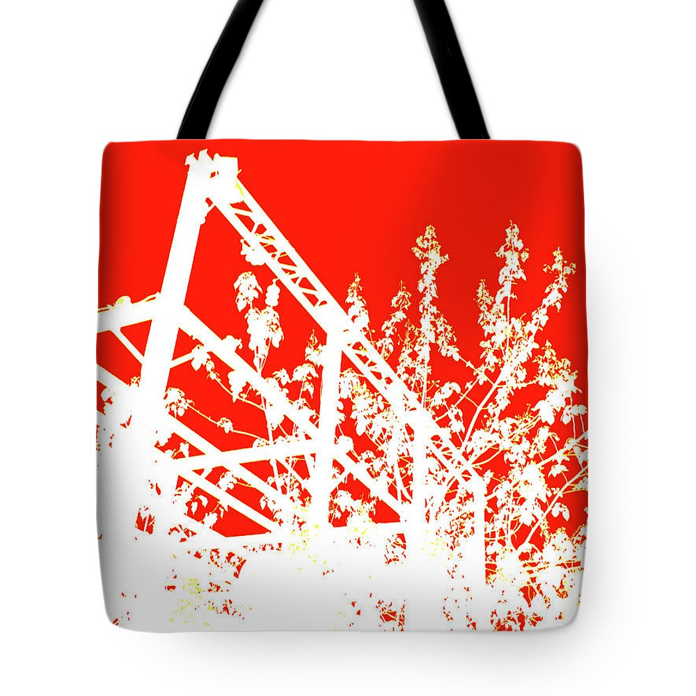 Philadelphia Cityscape Tote Bag featuring the photograph Philadelphia Rail Park View 1 by Rose Drew
