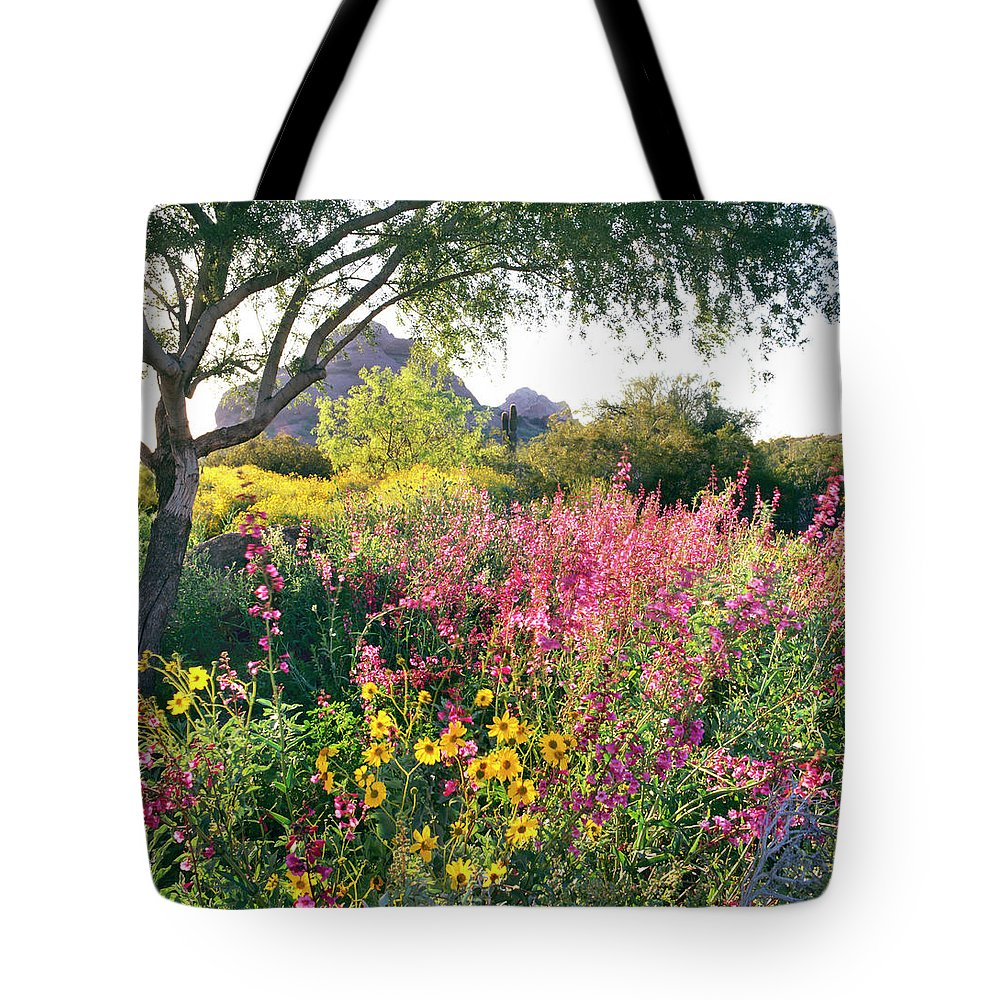 Scenics Tote Bag featuring the photograph Phoenix Botanical Gardens by Richard Felber