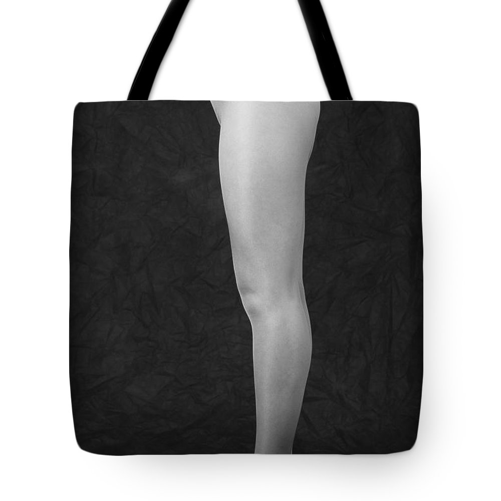Cool Attitude Tote Bag featuring the photograph Photography Of Standing Womans Legs by Daj