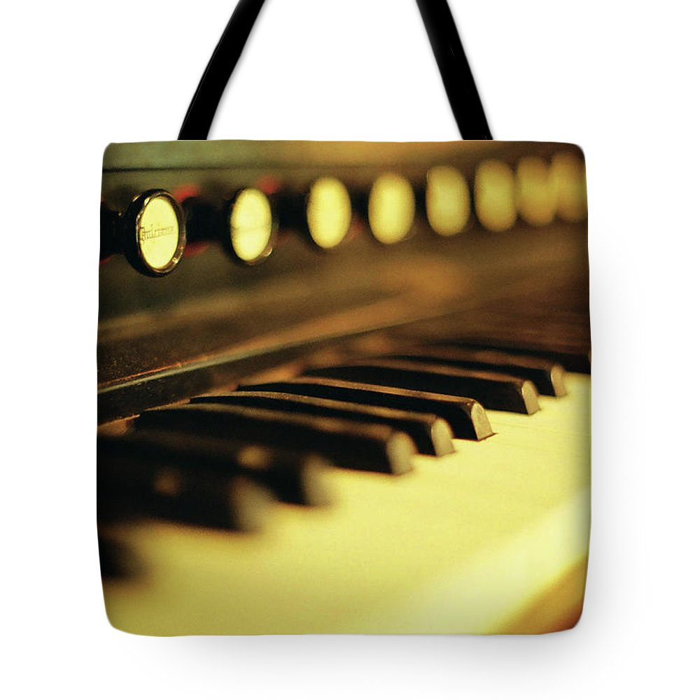 Piano Tote Bag featuring the photograph Piano Keys And Buttons by Photographer, Loves Art, Lives In Kyoto