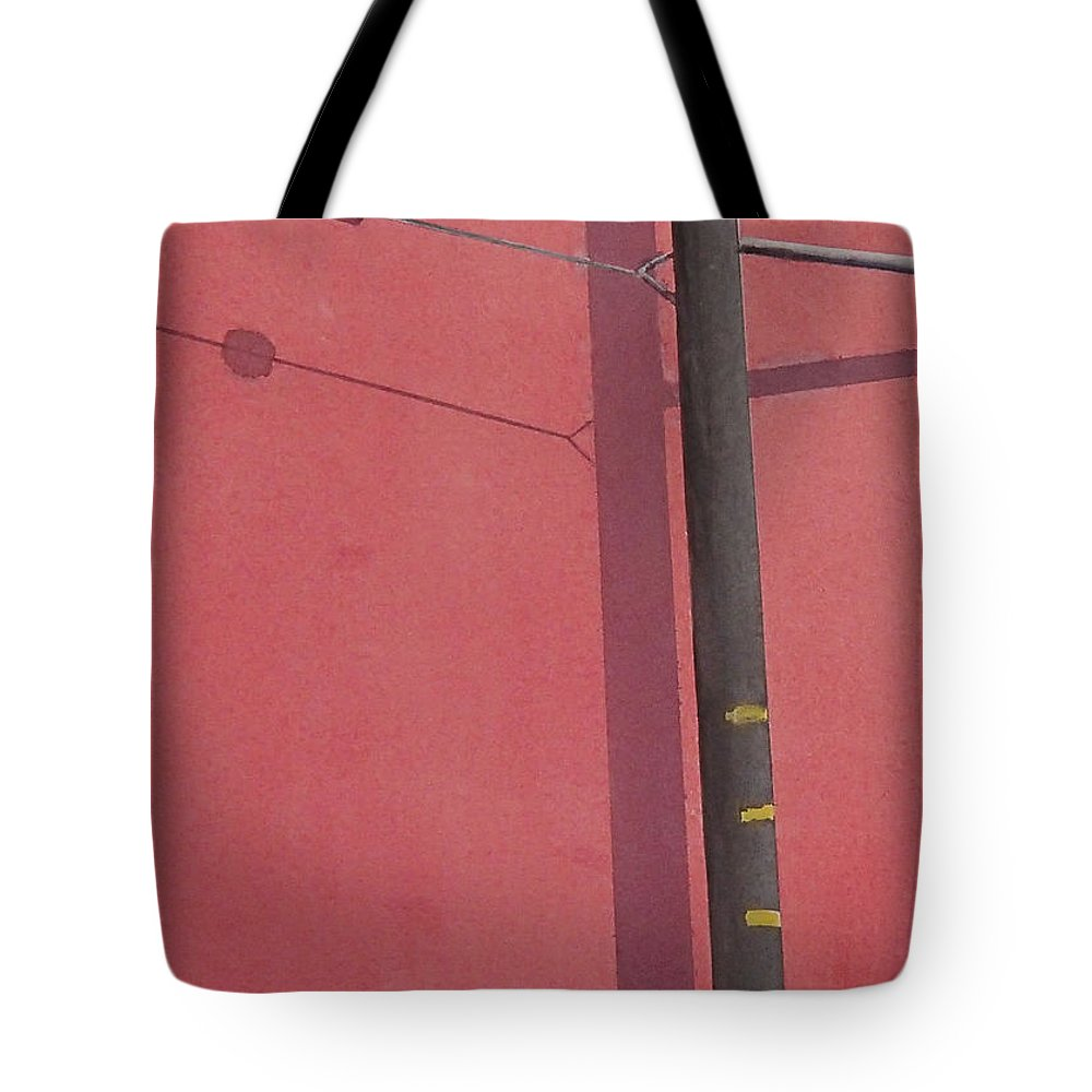 Tote Bag featuring the painting Pink wall by Philip Fleischer