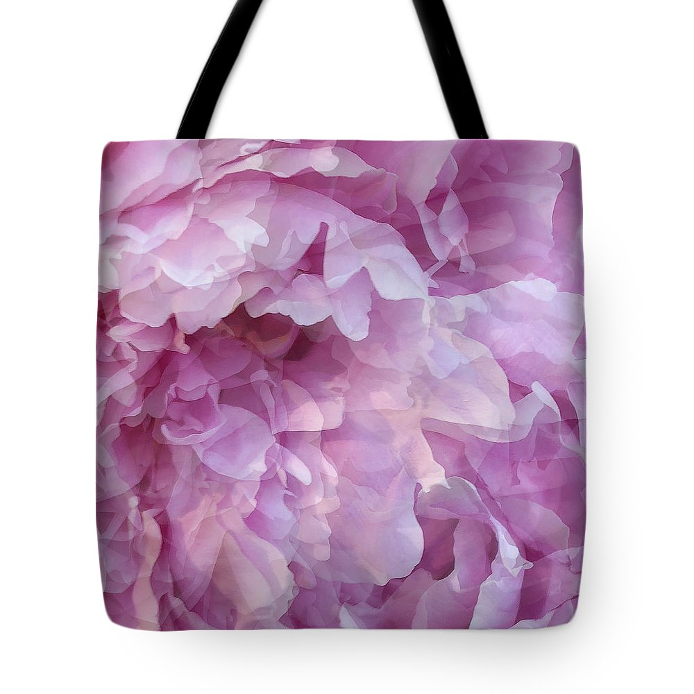 Pink Flower Tote Bag featuring the digital art Pinkity by Cindy Greenstein