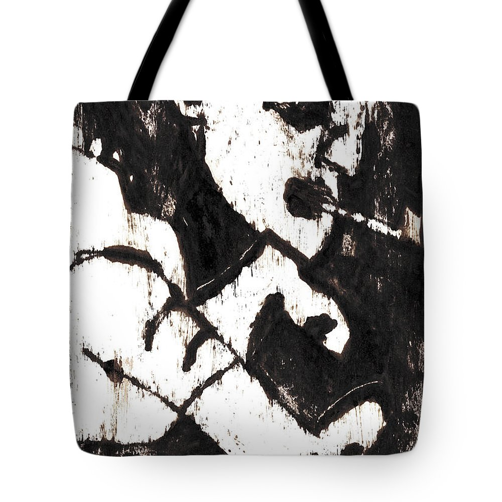 Pipe Tote Bag featuring the painting Pipe After Mikhail Larionov Black Oil Painting 4 by Edgeworth DotBlog