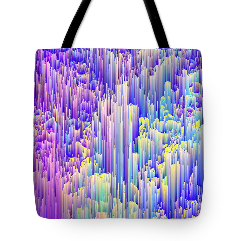 Glitch Tote Bag featuring the digital art Pixie Forest by Jennifer Walsh