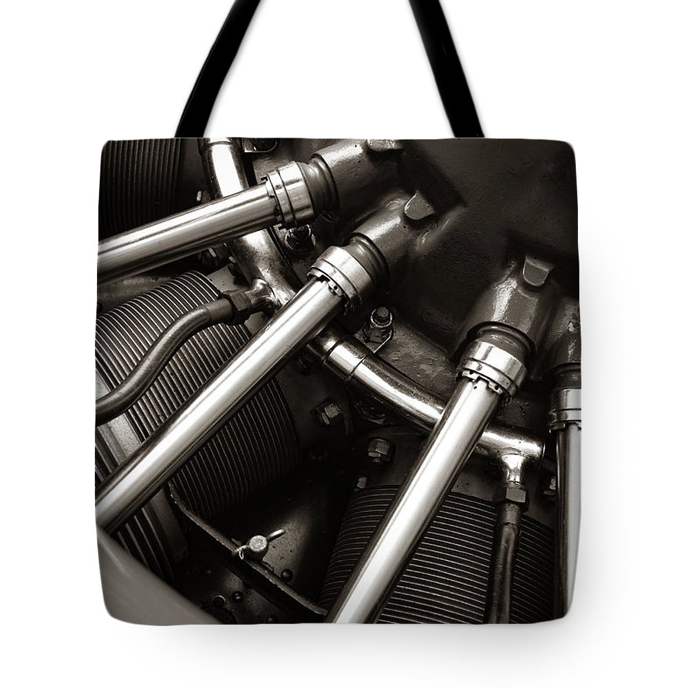 Motor Tote Bag featuring the photograph Plane Motor by Michelle Wittensoldner