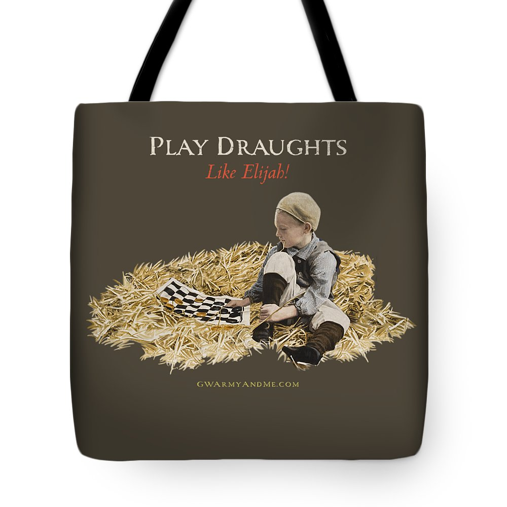 Draughts Tote Bag featuring the painting Play Draughts Like Elijah by 18th Century Slang