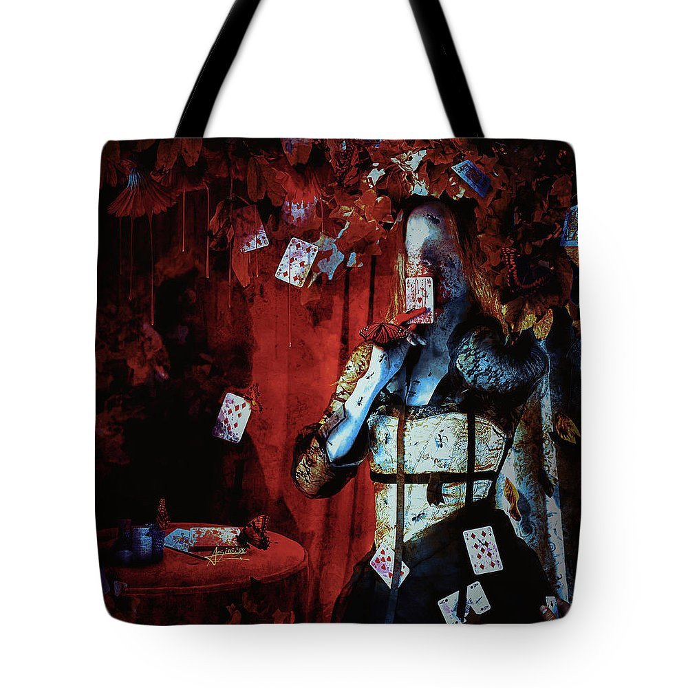 Gothic Tote Bag featuring the digital art Player by Mario Sanchez Nevado