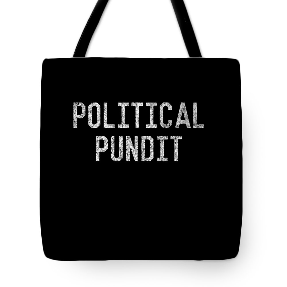 Cool Tote Bag featuring the digital art Political Pundit Vintage by Flippin Sweet Gear