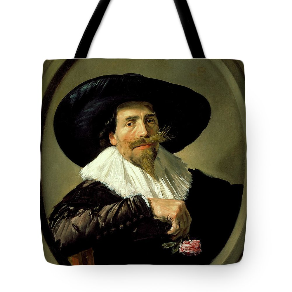 Frans Hals Tote Bag featuring the painting Portrait Of A Man   by Frans Hals