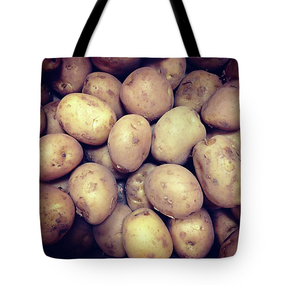 Heap Tote Bag featuring the photograph Potatoes by Digipub