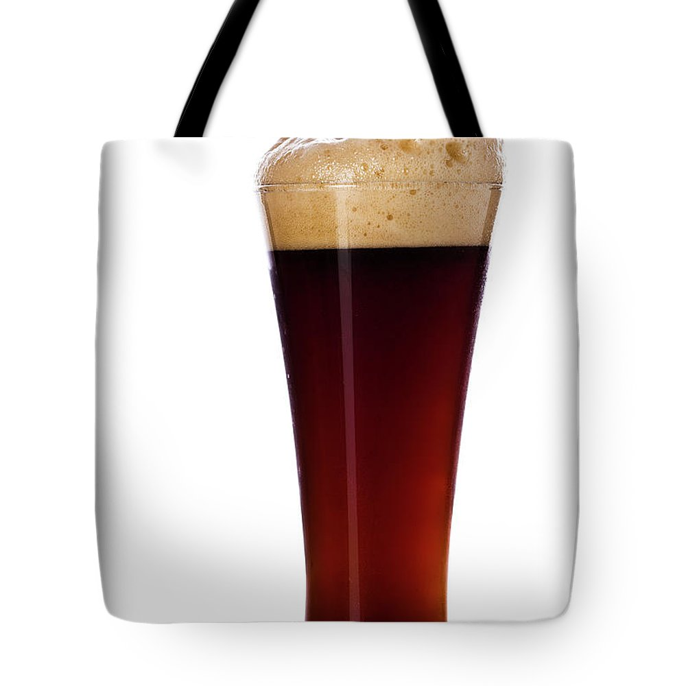 Stout Tote Bag featuring the photograph Pouring The Lager by Eli asenova