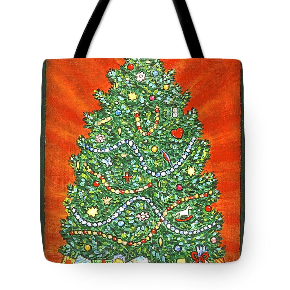 Presents Under The Christmas Tree: Presents Under The Christmas Tree Tote Bag For Sale By