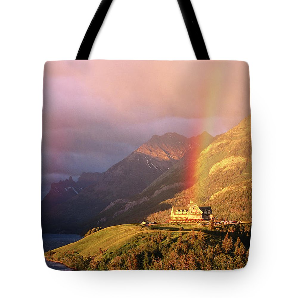 Scenics Tote Bag featuring the photograph Prince Of Wales Hotel, At The End Of A by John Elk
