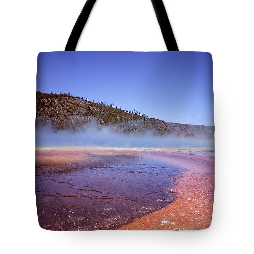 Tranquility Tote Bag featuring the photograph Prismatic Spring Algae by L. Maile Smith