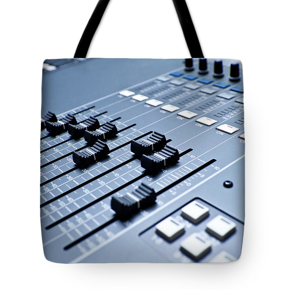 Mixing Tote Bag featuring the photograph Professional Digital Sound And by Grandriver