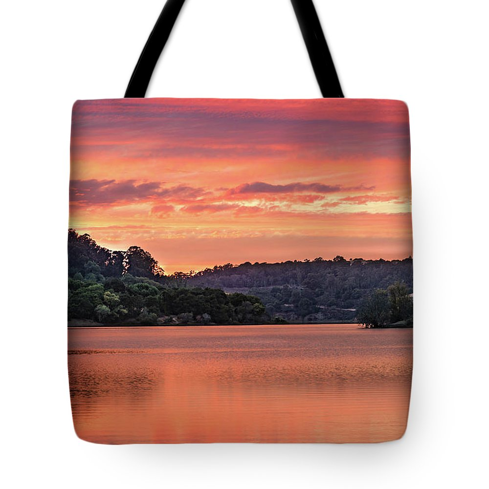 Sunrise Tote Bag featuring the photograph Promise And Peace by Tran Boelsterli