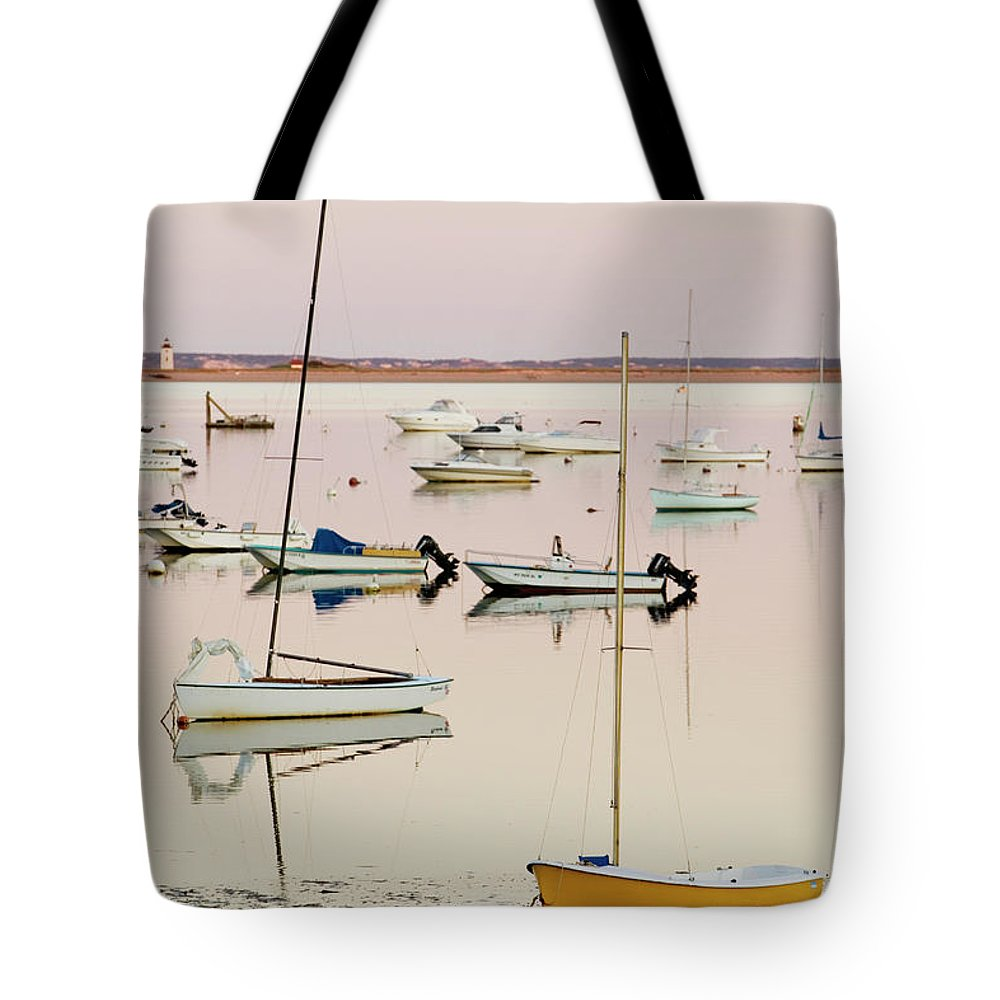 Sailboat Tote Bag featuring the photograph Provincetown Harbor by Walter Bibikow