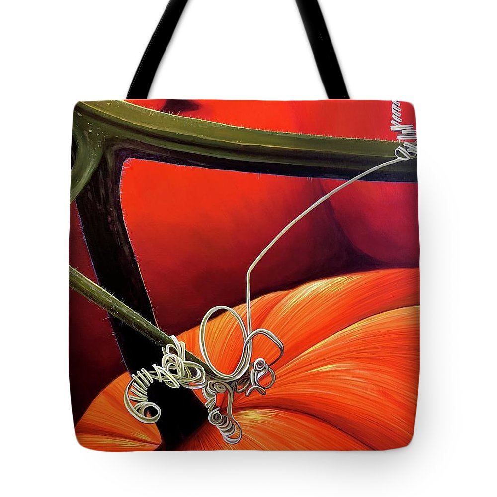 Vine Tote Bag featuring the painting Pumpkin Patch by Hunter Jay