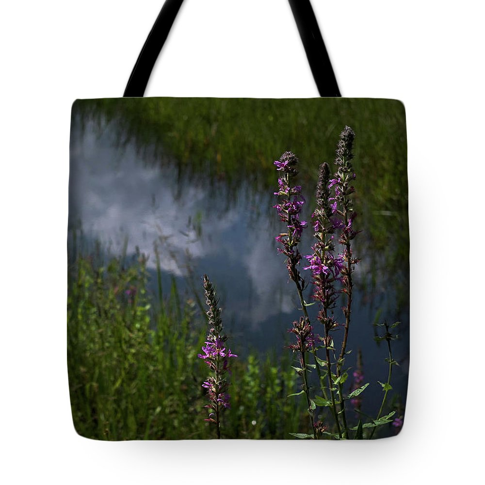 Purple Loosestrife Tote Bag featuring the photograph Purple Daydream by Jerry LoFaro