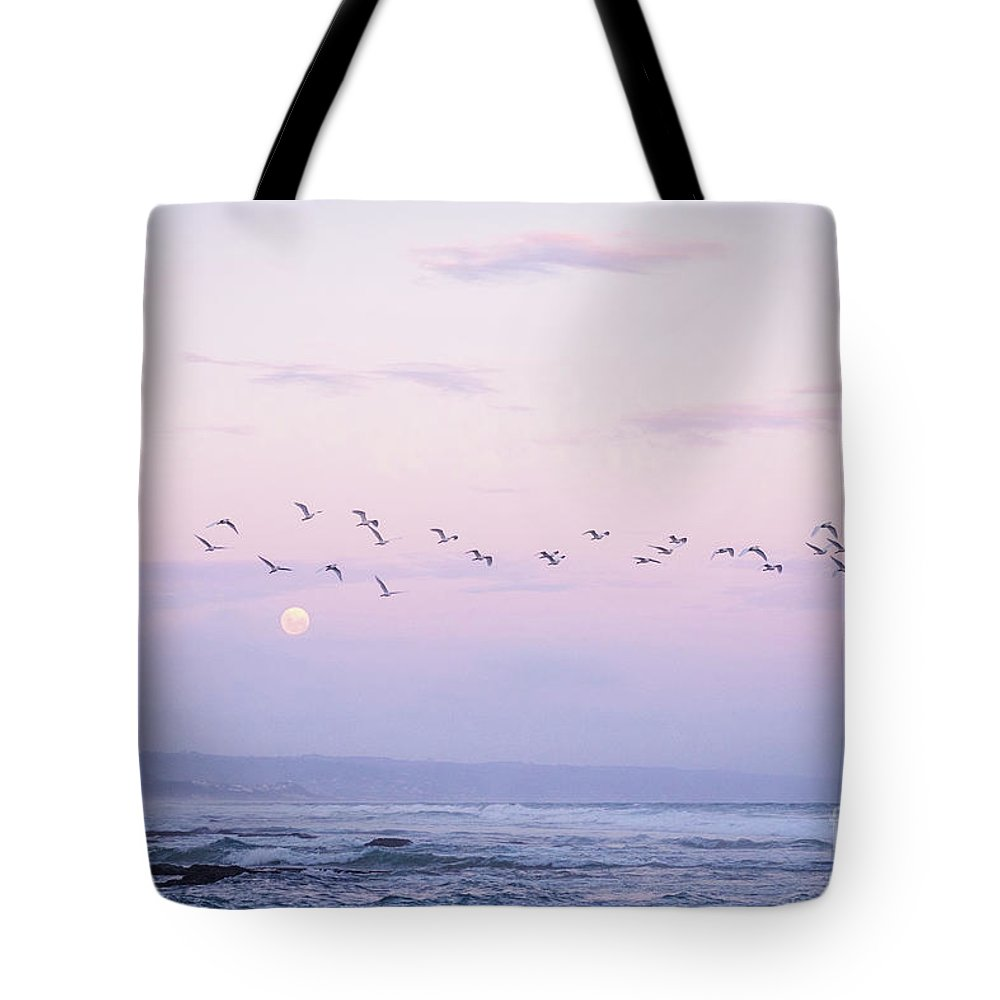 South Africa Tote Bag featuring the photograph Purple Moon Rising by Admill Kuyler