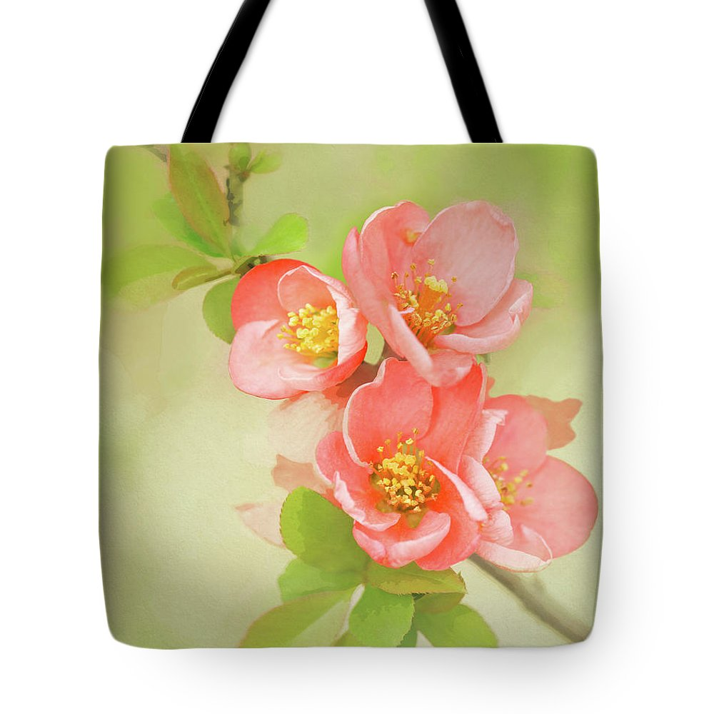 Coral Tote Bag featuring the photograph Quatro Quince by Emily Johnson
