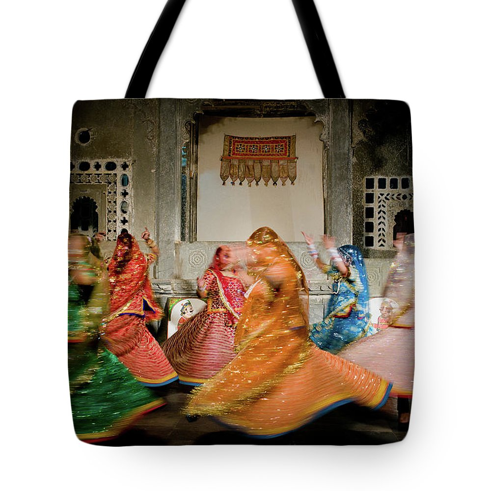 People Tote Bag featuring the photograph Rajasthani Dances by Ania Blazejewska