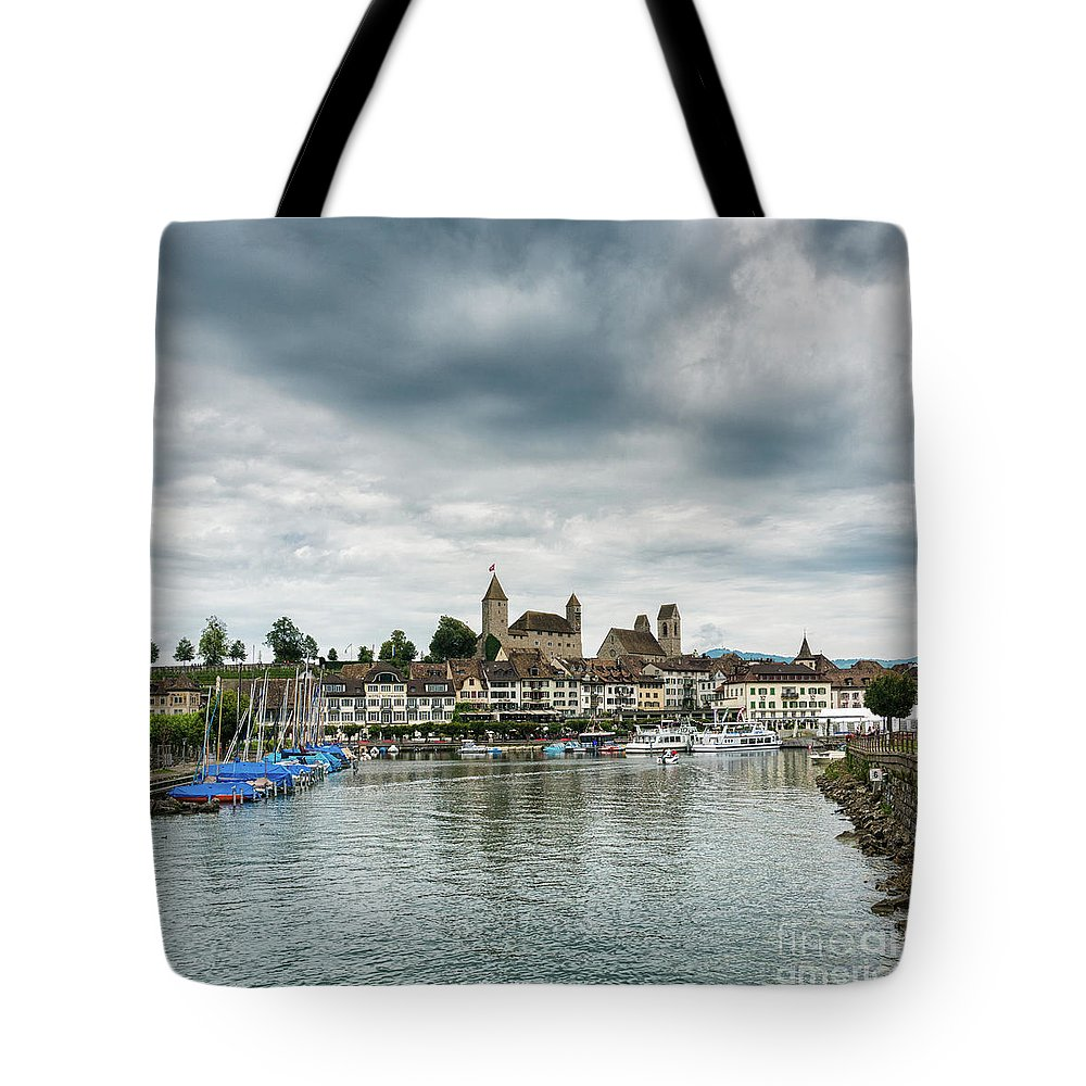 Rapperswil Tote Bag featuring the photograph Rapperswil Castle by DiFigiano Photography