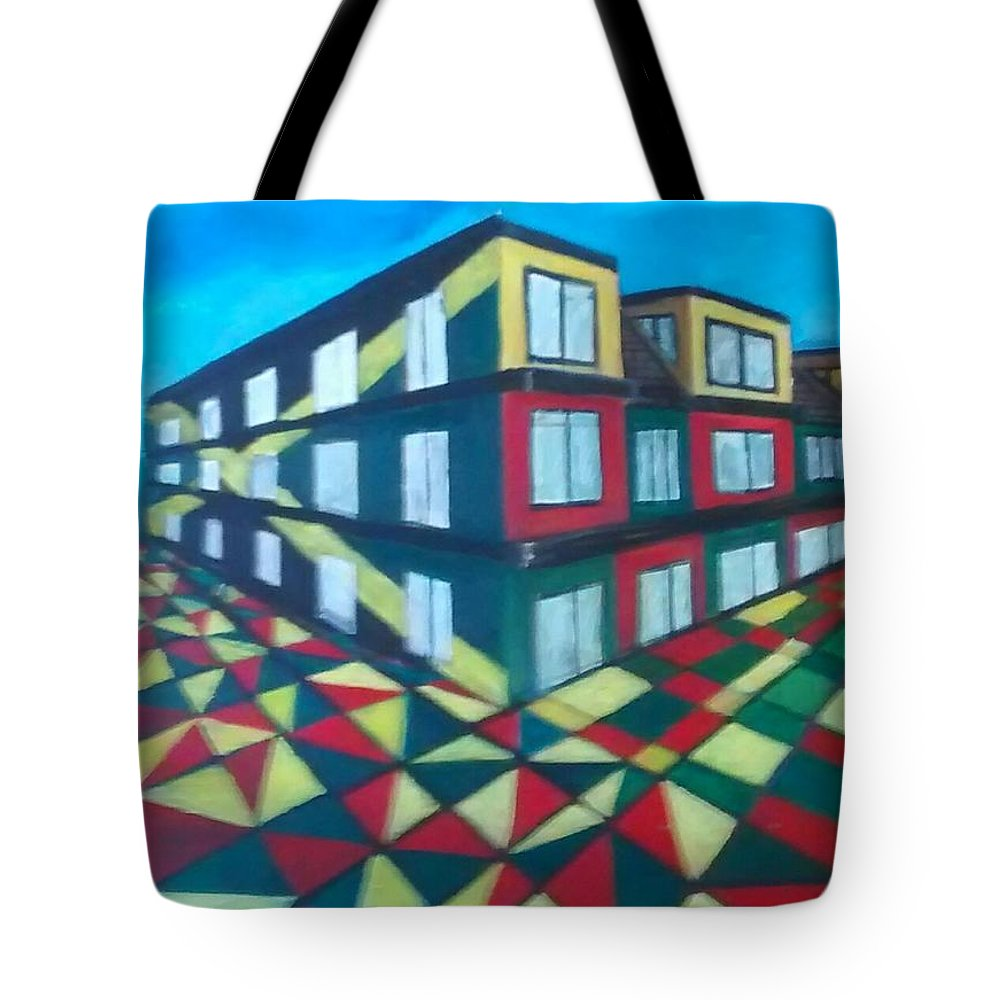 Rasta Art Tote Bag featuring the painting Rasta Academy by Andrew Johnson