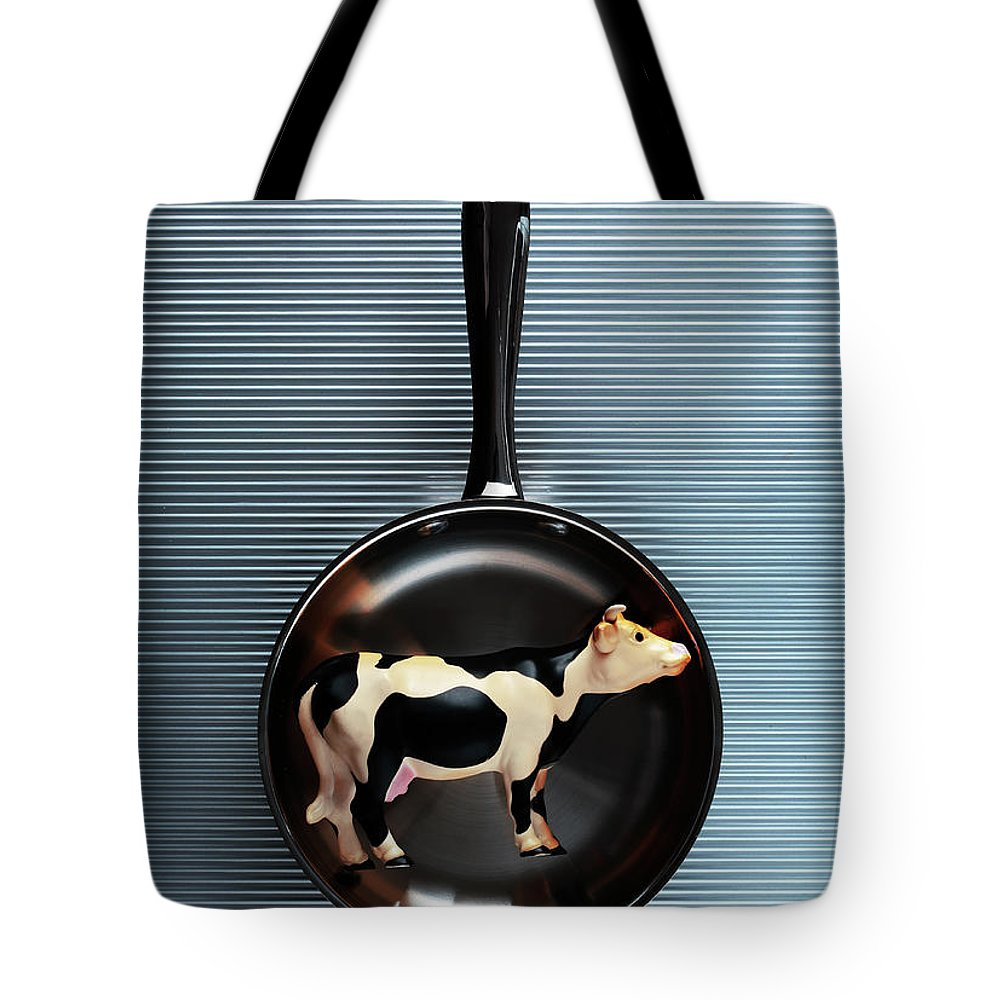 Concepts & Topics Tote Bag featuring the photograph Raw Steak by Thepalmer