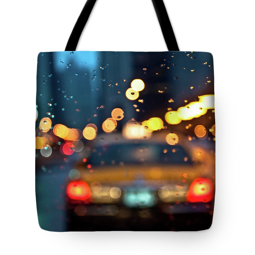 Car Interior Tote Bag featuring the photograph Raw, Wet & Cold by Romeo Banias