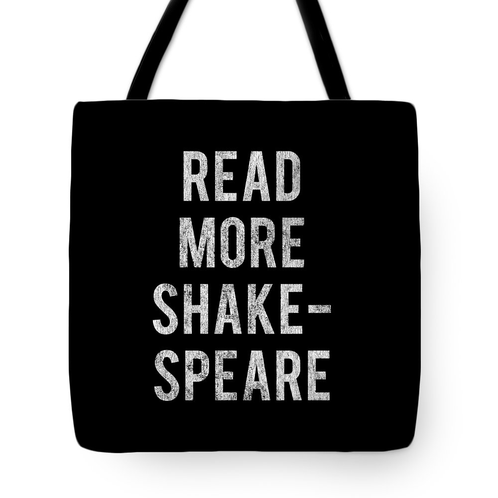 Cool Tote Bag featuring the digital art Read More Shakespeare Vintage by Flippin Sweet Gear
