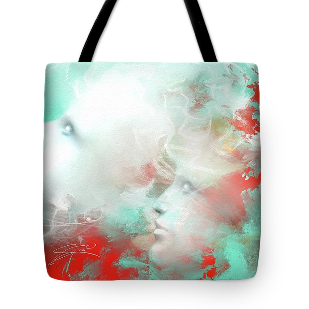 Tote Bag featuring the painting Reconnect by Artist4You