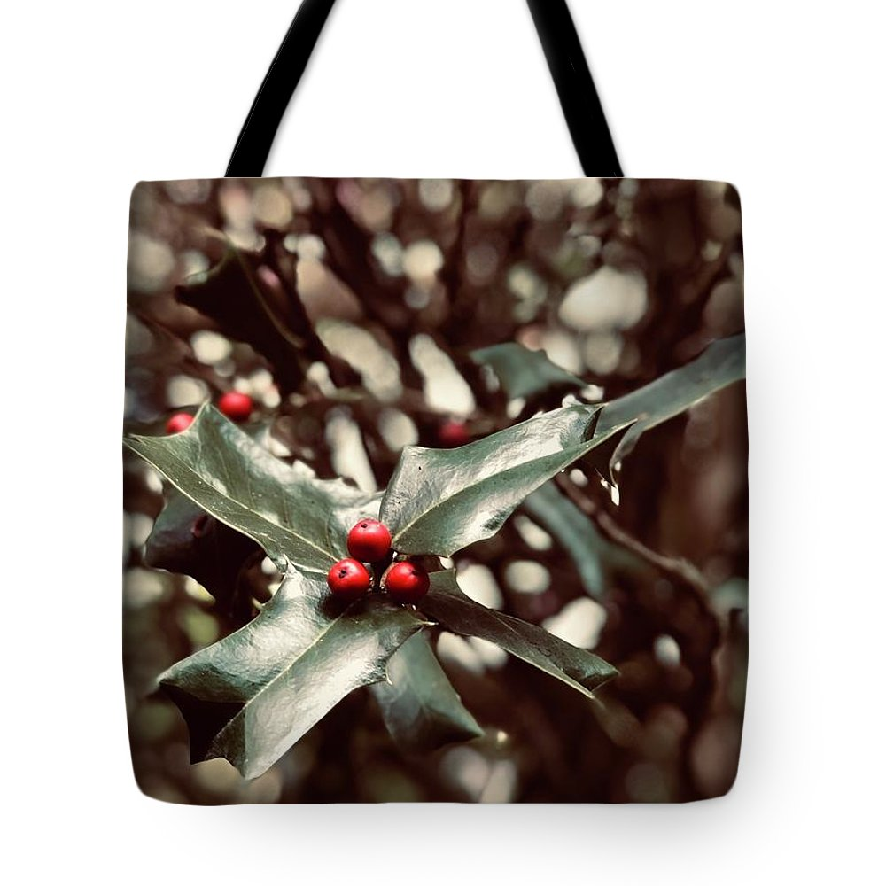 Holly Berry Tote Bag featuring the digital art Red 3 by Sharon Green