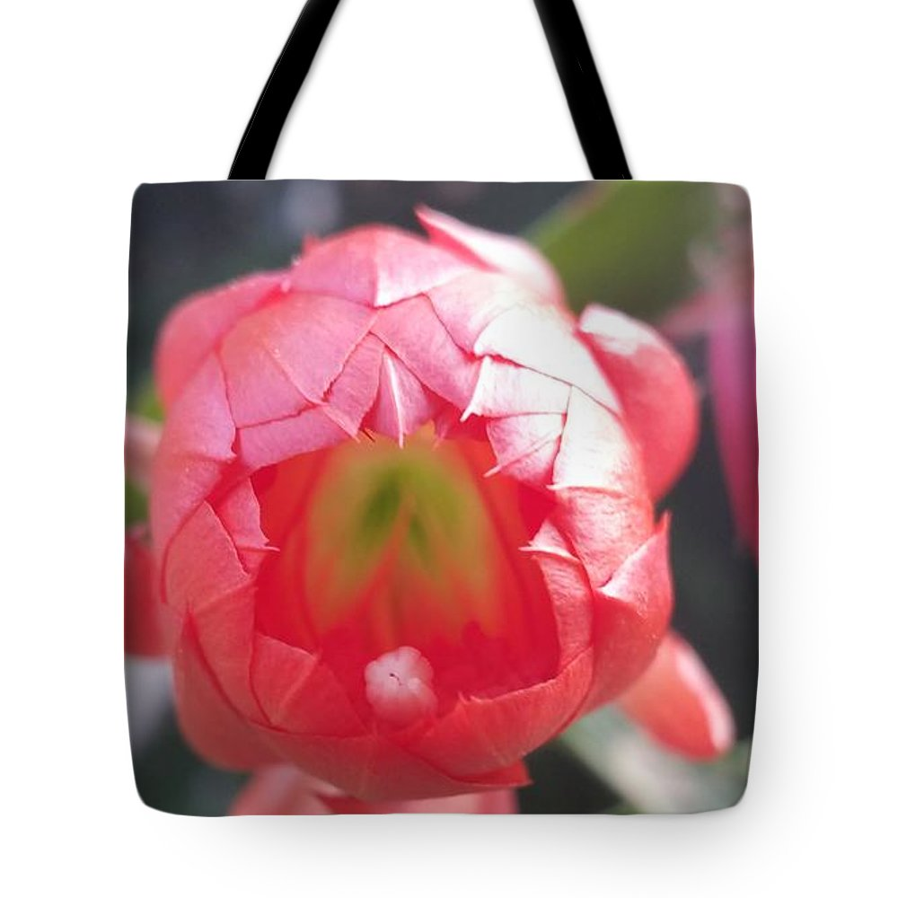 Tote Bag featuring the photograph Red Flower by Paola Baroni