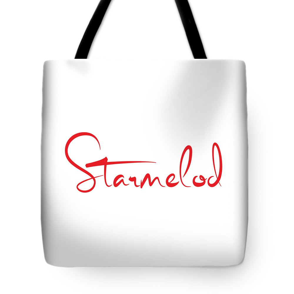 Starmelod Red Logo Tote Bag featuring the digital art Red Logo by Thomas Gueabley Tierou