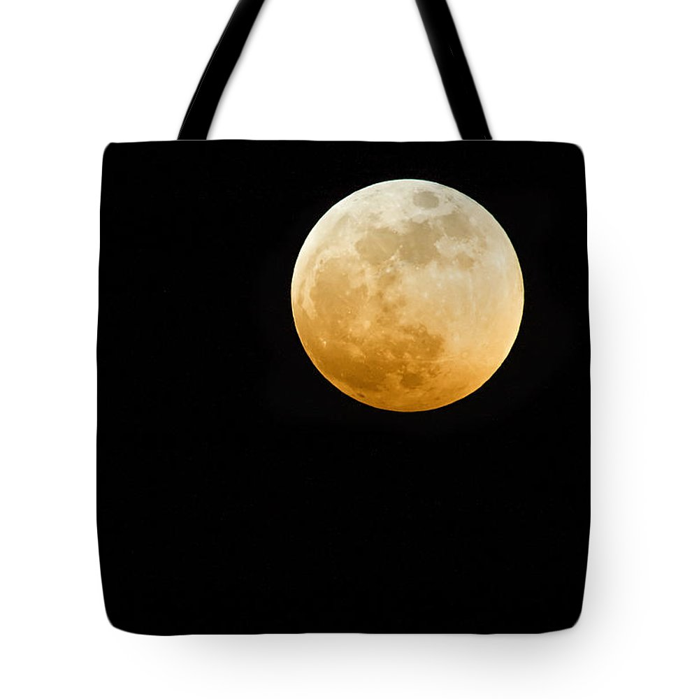 Shadow Tote Bag featuring the photograph Red Moon by Stevedangers