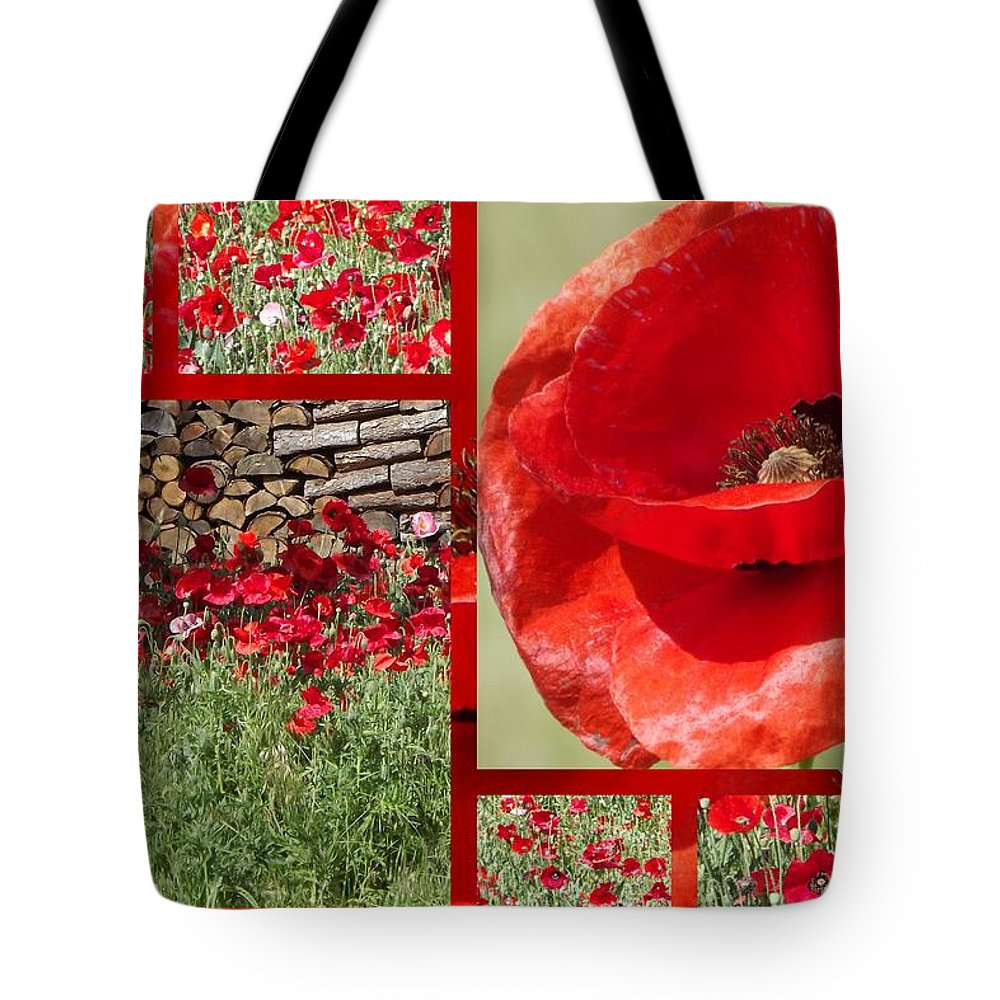 Poppy Tote Bag featuring the photograph Red Poppy by Linda Vanoudenhaegen