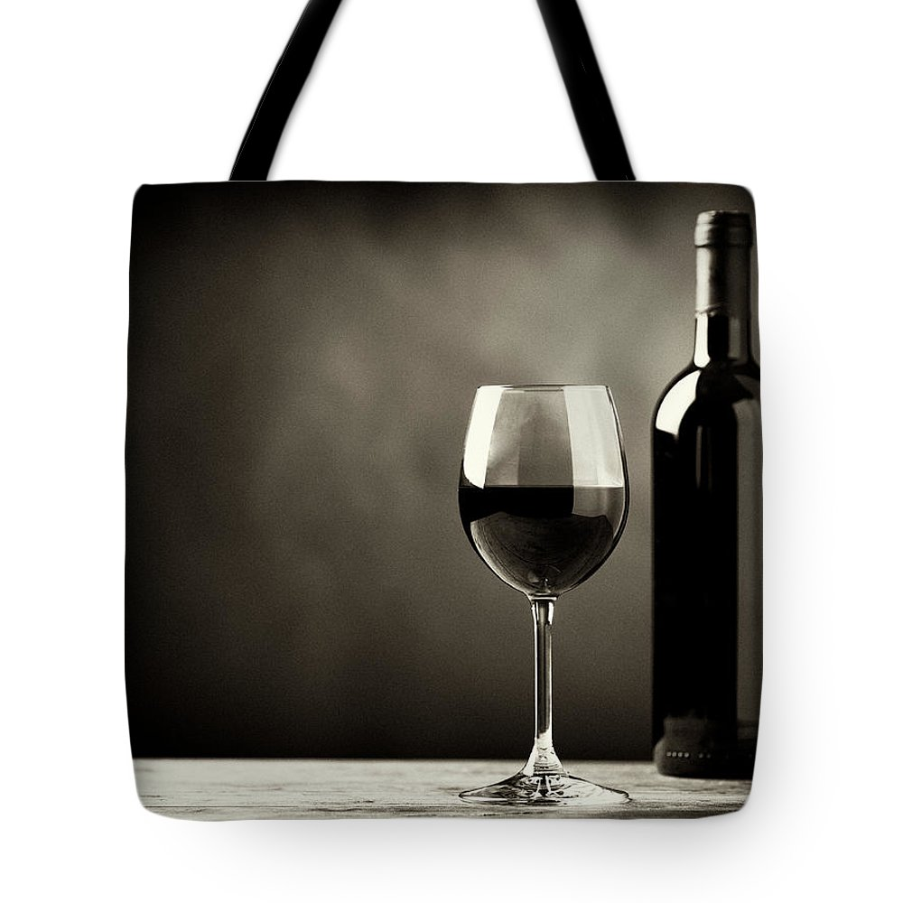 Alcohol Tote Bag featuring the photograph Red Wine by Kaisersosa67