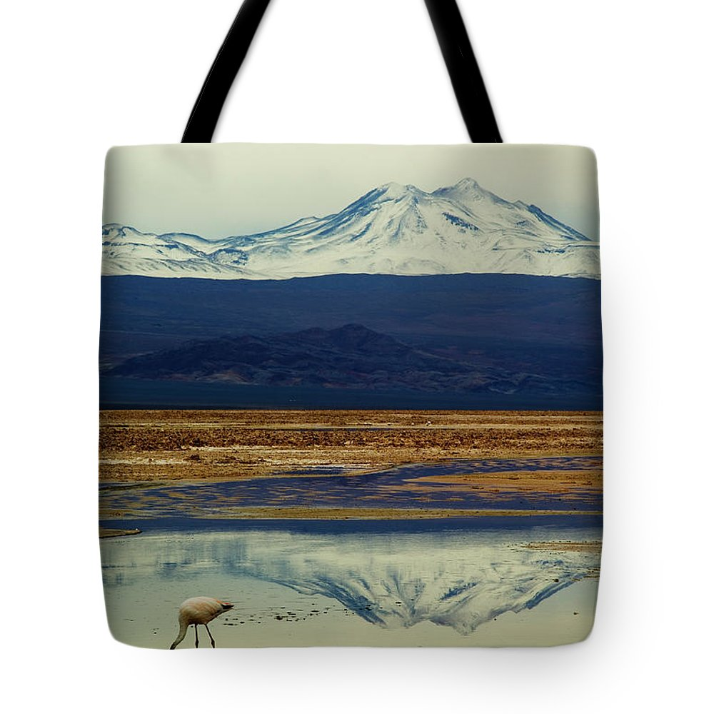 Snow Tote Bag featuring the photograph Reflections, Salar De Atacama, Chile by By Philippe Reichert