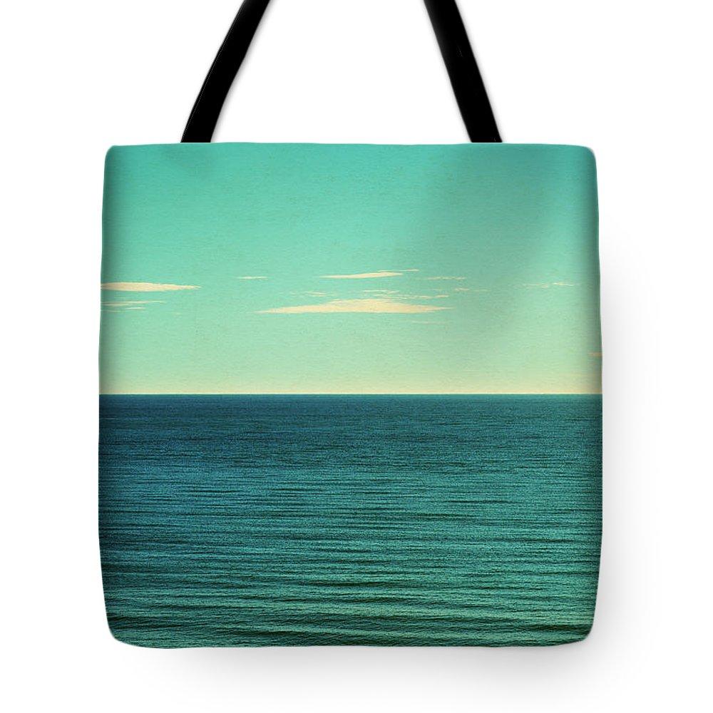 Scenics Tote Bag featuring the photograph Retro Seascape Postcard by Farukulay