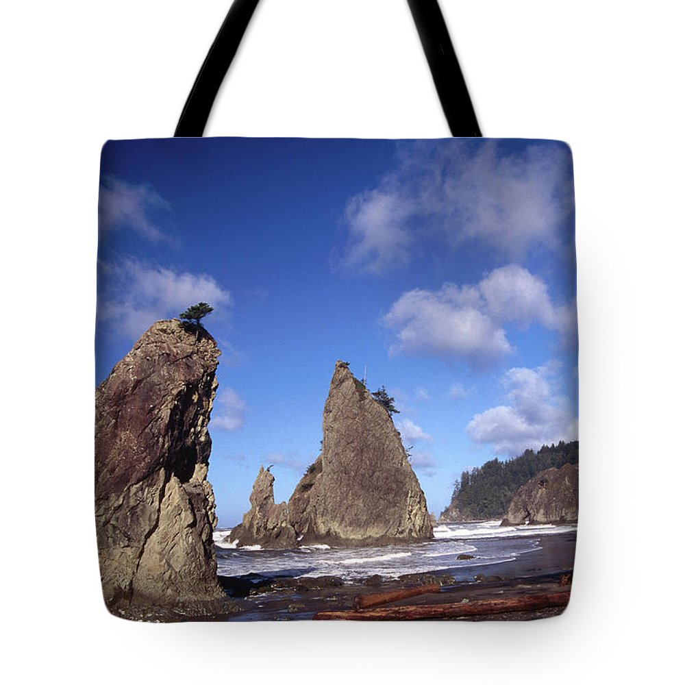 Toughness Tote Bag featuring the photograph Rialto Beach by Mark Newman