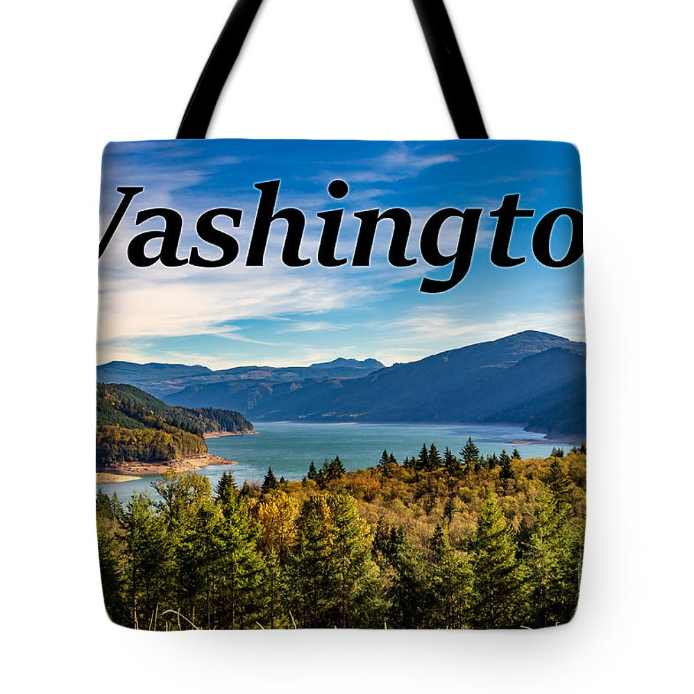 Riffe Lake Tote Bag featuring the photograph Riffe Lake, Washington by G Matthew Laughton