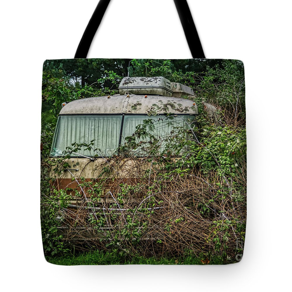 Woods Tote Bag featuring the photograph Rip Van Winkle's Rv by Janice Pariza