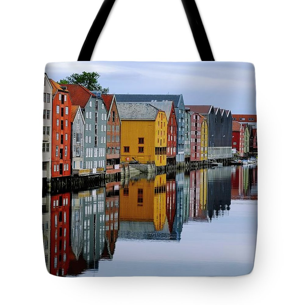 Tranquility Tote Bag featuring the photograph River Accommodation 0.2 by Nir Leshem