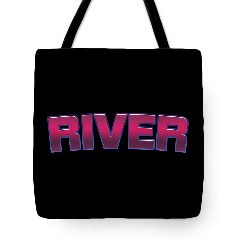 River Tote Bag featuring the digital art River #river by TintoDesigns