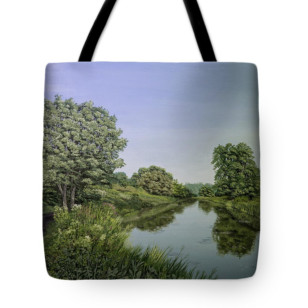 River Wey Tote Bag featuring the painting River Wey by Raymond Ore